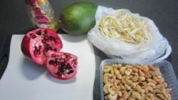 Funky taugésalade met mango & gekarameliseerde cashew noten