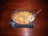 Kabeljauwfilet met champignons en aardappelen