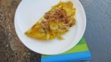 Frittata met aardappel en gekaramelliseerde ui