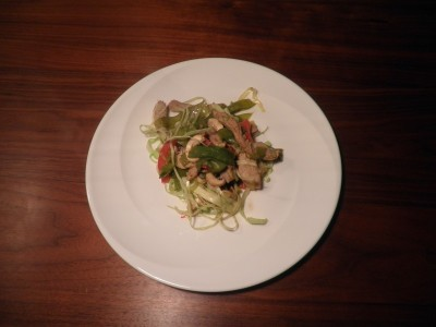 Hamlapreepjes met groente uit de wok