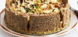 Hartige taart met groente
