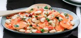 Wortelsalade met limabonen en tahindressing