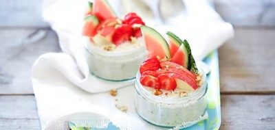 Overnight oats met fruit