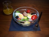 Salade Niçoise; met krieltjes, haricots verts