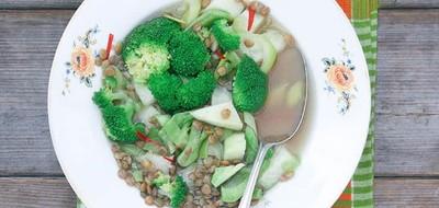 Maaltijdsoep met pittige groente