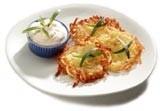 Aardappelkoekjes met ham en kaas