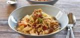 Spaghetti met venkel-uiensaus en noten